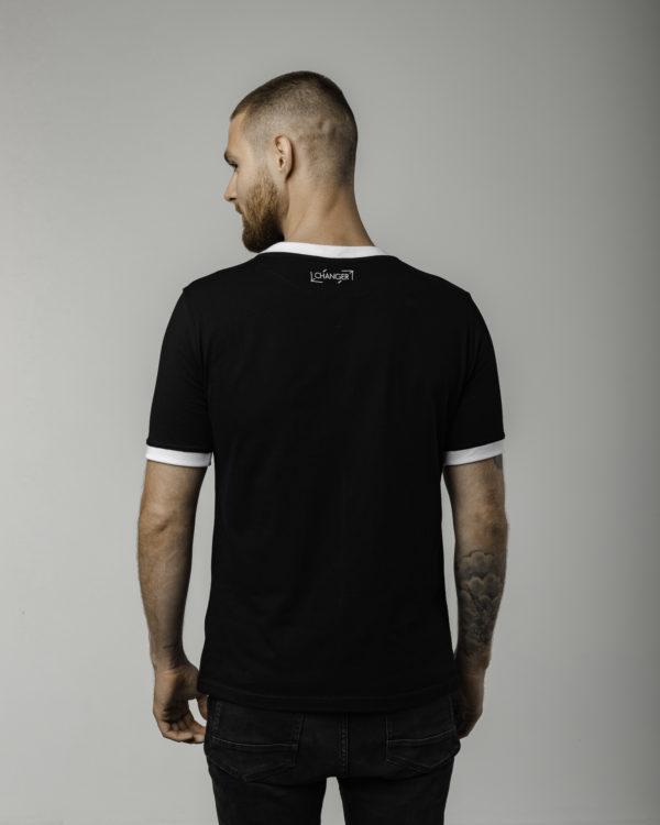 Czarna koszulka męska z logiem tyłem