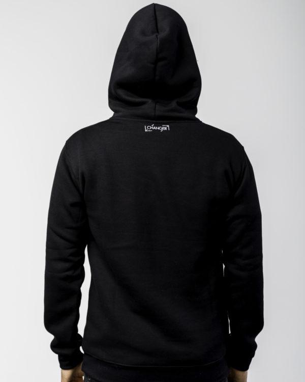 Czarna bluza z logiem tyłem